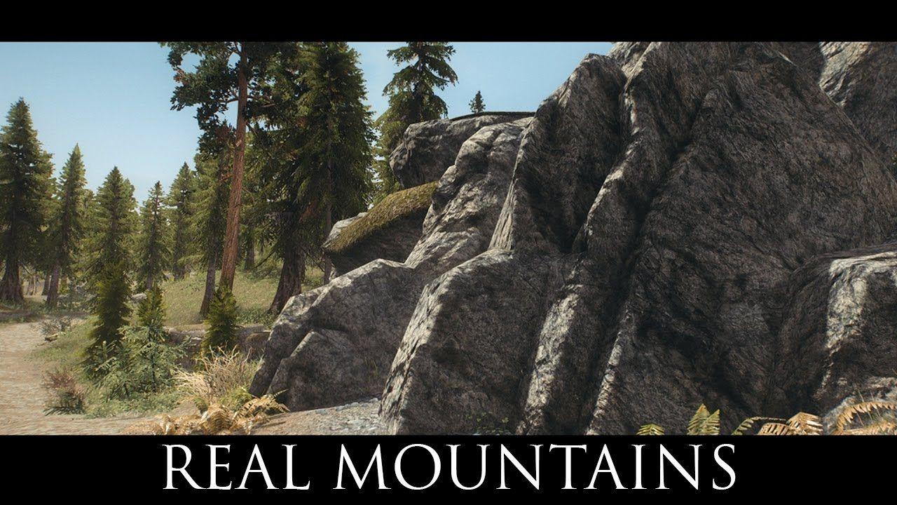 Skyrim SE Mods: Real Mountains | Skyrim SE | Mountains