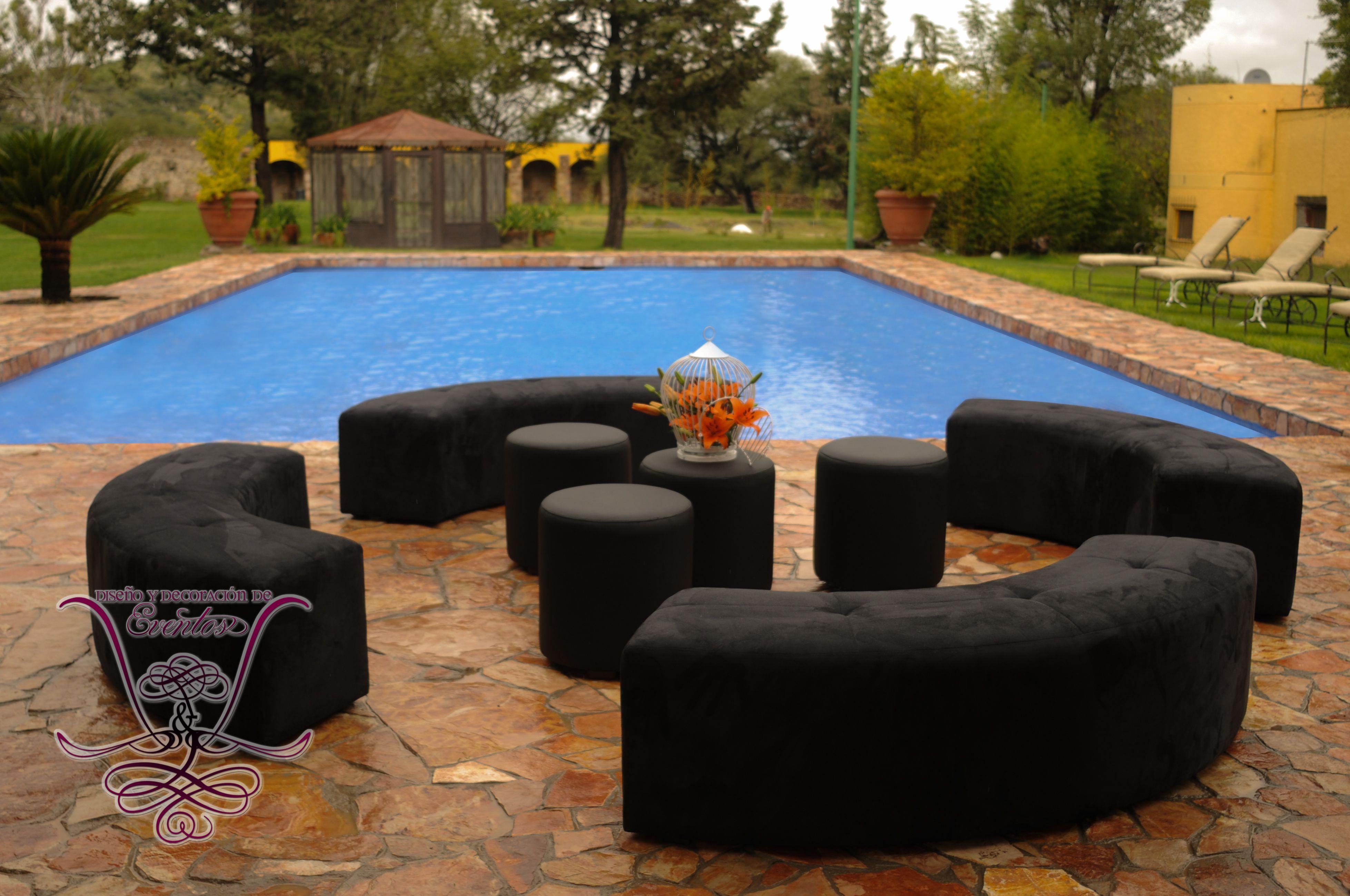 Salas Negras En Renta Salas Pinterest Salas Lounge Negro Y