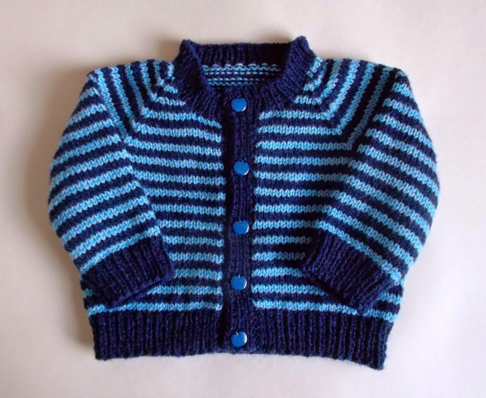 Sporty Simple Stripe Baby Cardigan (marianna\'s lazy daisy days ...