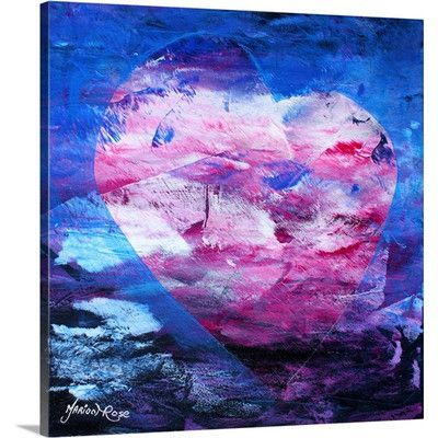 """Canvas On Demand 'Heartfelt XV - Winter Ice' by Marion Rose Painting Print on Canvas Size: 24"""" H x 24"""" W x 1.25"""" D"""