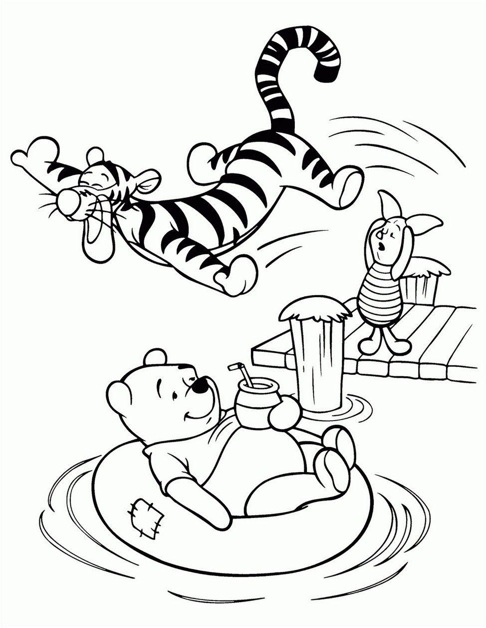 Coloring Page Winnie The Pooh Printable Winnie The Pooh Drawing Coloring Books Bear Coloring Pages