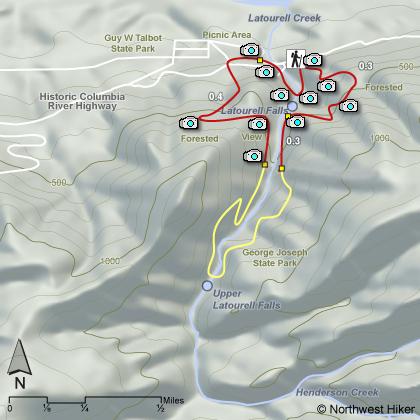 Latourell Falls Short Loop hike