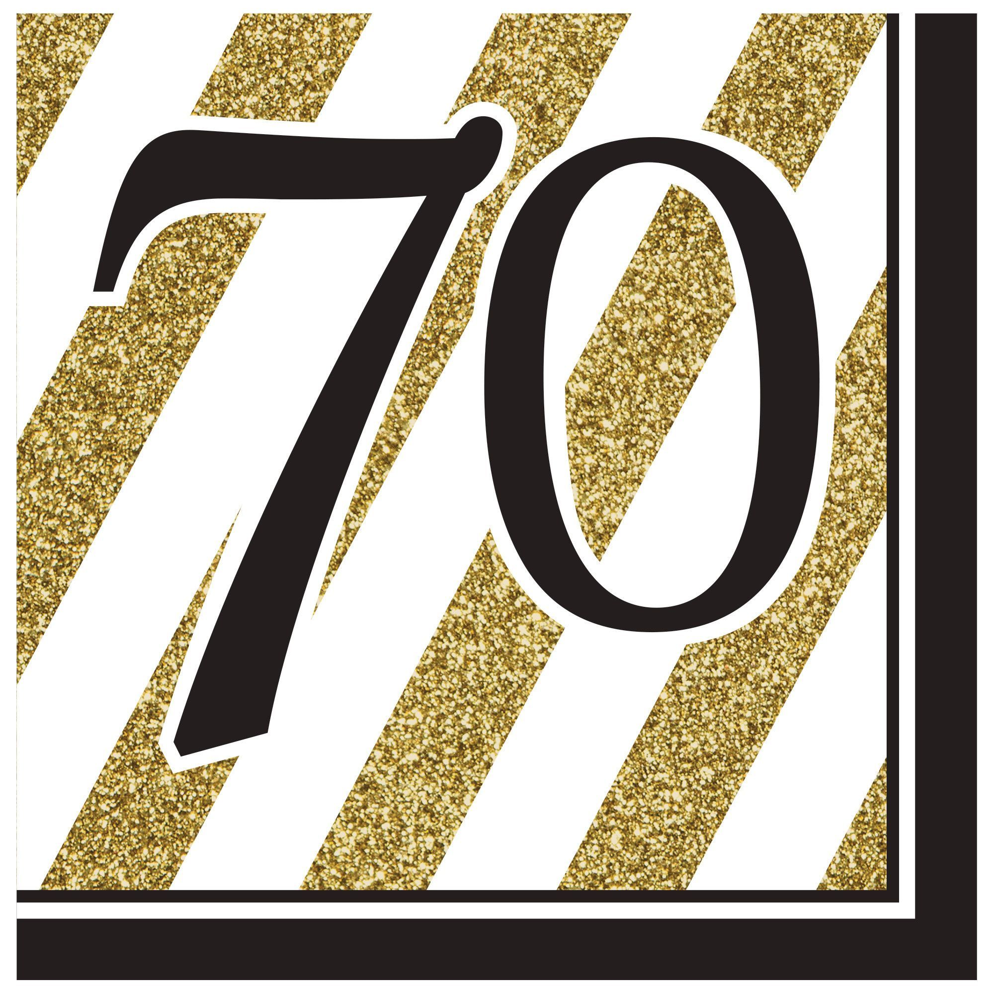 Black gold 70th lunch napkinscase of 192 napkins 70 birthday birthday party ideas biocorpaavc