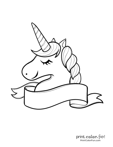Cute Unicorn Coloring Pages Graphic by Janet's Cute
