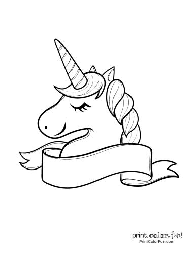 Kawaii Unicorn Print Out
