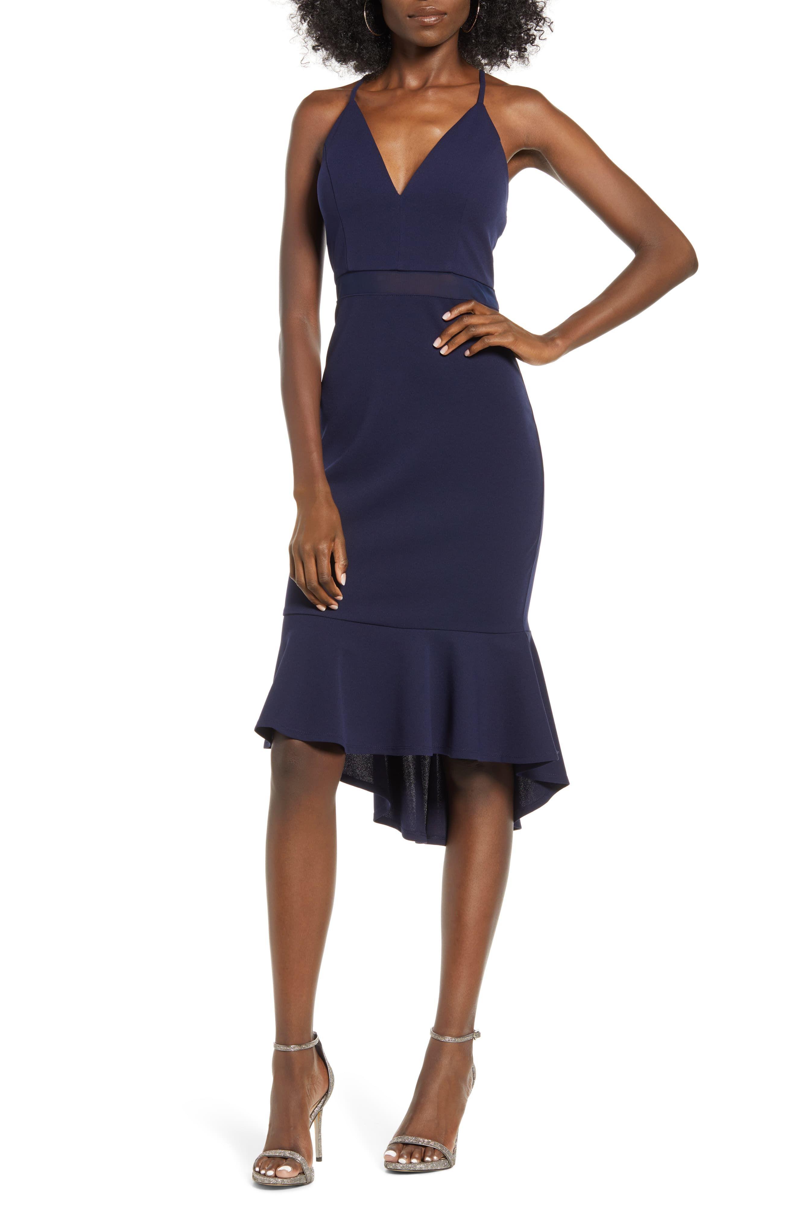 Love Nicki Lew Illusion Detail Flounce Dress Nordstrom Cocktail Dress Classy Flounced Dress Dresses [ 4048 x 2640 Pixel ]