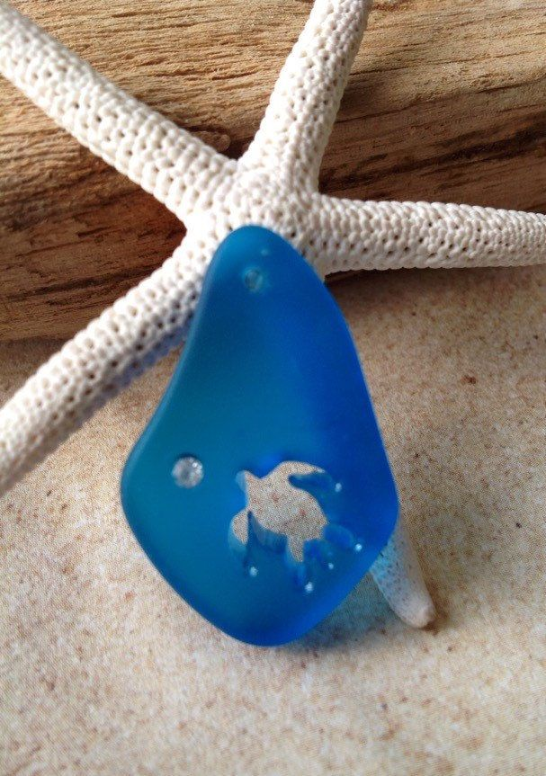 A personal favorite from my Etsy shop https://www.etsy.com/listing/227341973/32x20-cultured-sea-glass-pendant-beach
