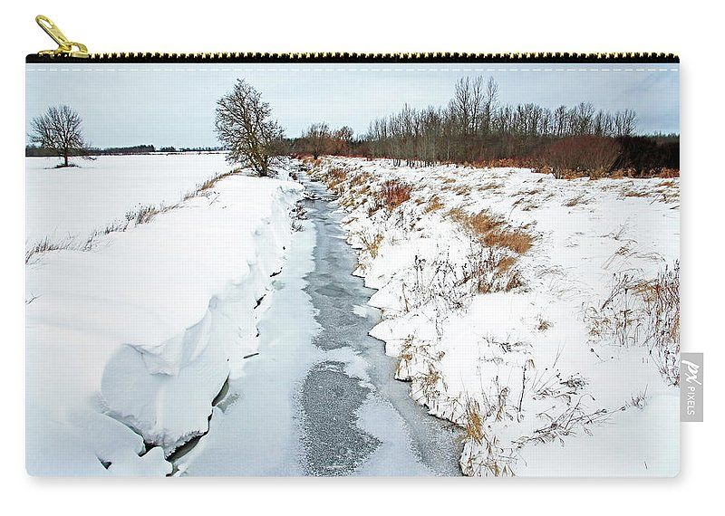 Rural Creek On Ice Carry All Pouch For Sale By Debbie Oppermann In 2021 Fine Art America Fine Art Artwork