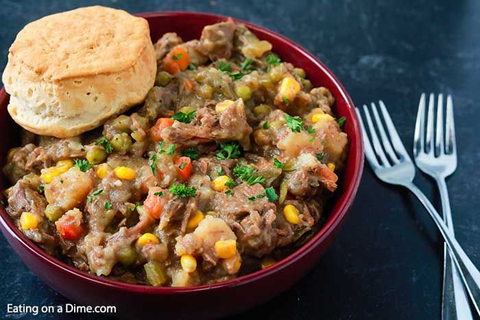 Crock pot beef pot pie recipe - slow cooker beef pot pie ...