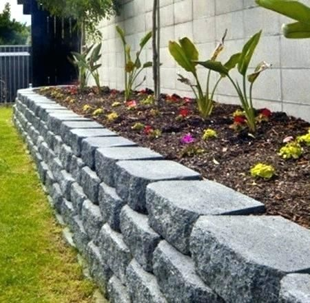 Concrete Garden Edging Ideas Retaining Walls Blocks For Landscaping Machine