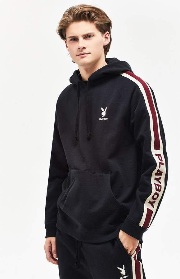 PacSun x Playboy Sport Stripe Pullover Hoodie  738e4fc9ee