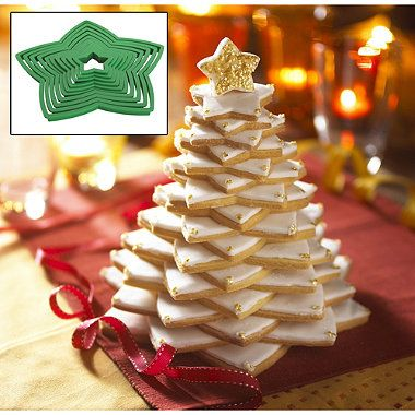 3d Christmas Cookie Cutter Set For The Kitchen Christmas Cookie
