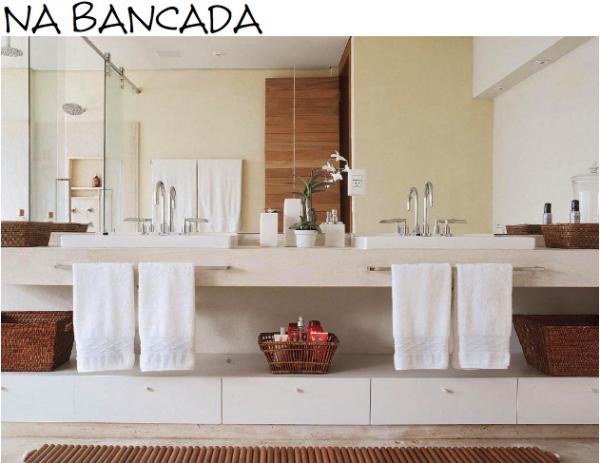 BANCADA DE MARMORE TRAVERTINO, com cuba de semiencaixe, sem bordas  Banheir -> Cuba Banheiro Travertino
