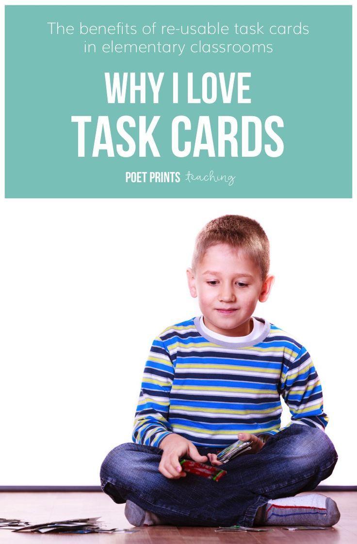 Why I Love Task Cards | Poet Prints Teaching | Pinterest | Teacher ...