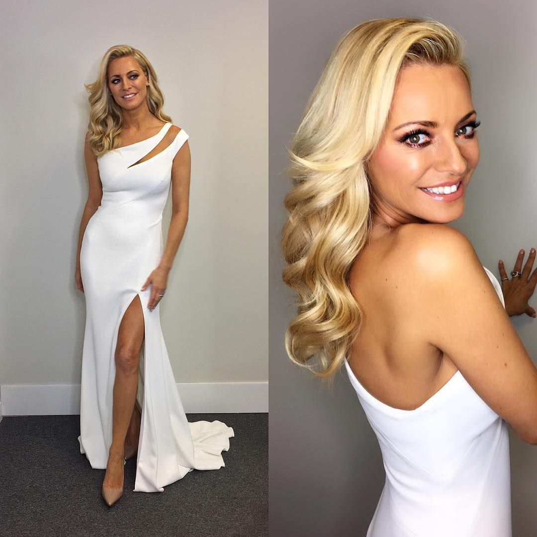 Tess Daly White One Shoulder Cut Out Gown Strictly Come Dancing Week ...