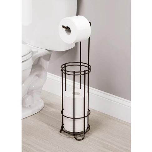 Reserve Plus 4 Roll Freestanding Toilet Tissue Holder Bronze Threshold Toilet Tissue Holders Modern Bathroom Decor