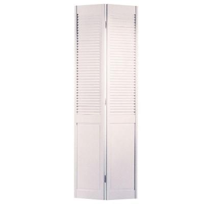 masonite smooth half louver primed pine interior closet bi on Masonite 30 In X 80 In Half Louvered Primed Hollow id=68626