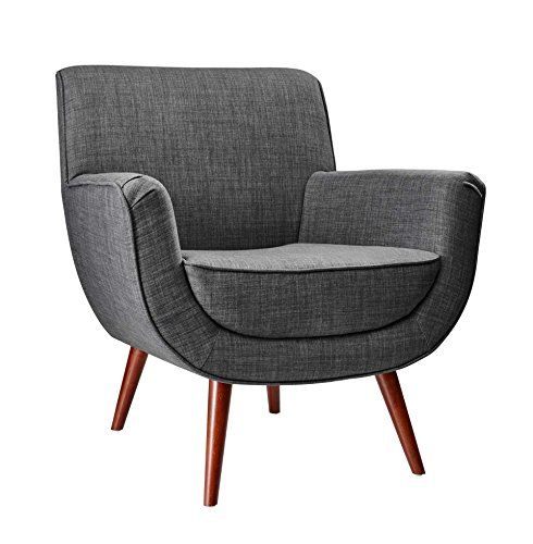 Adesso Gr2000 10 Cormac Chair Charcoal Grey Modern
