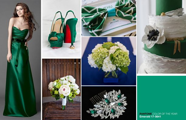 Emerald Green Wedding Inspirations