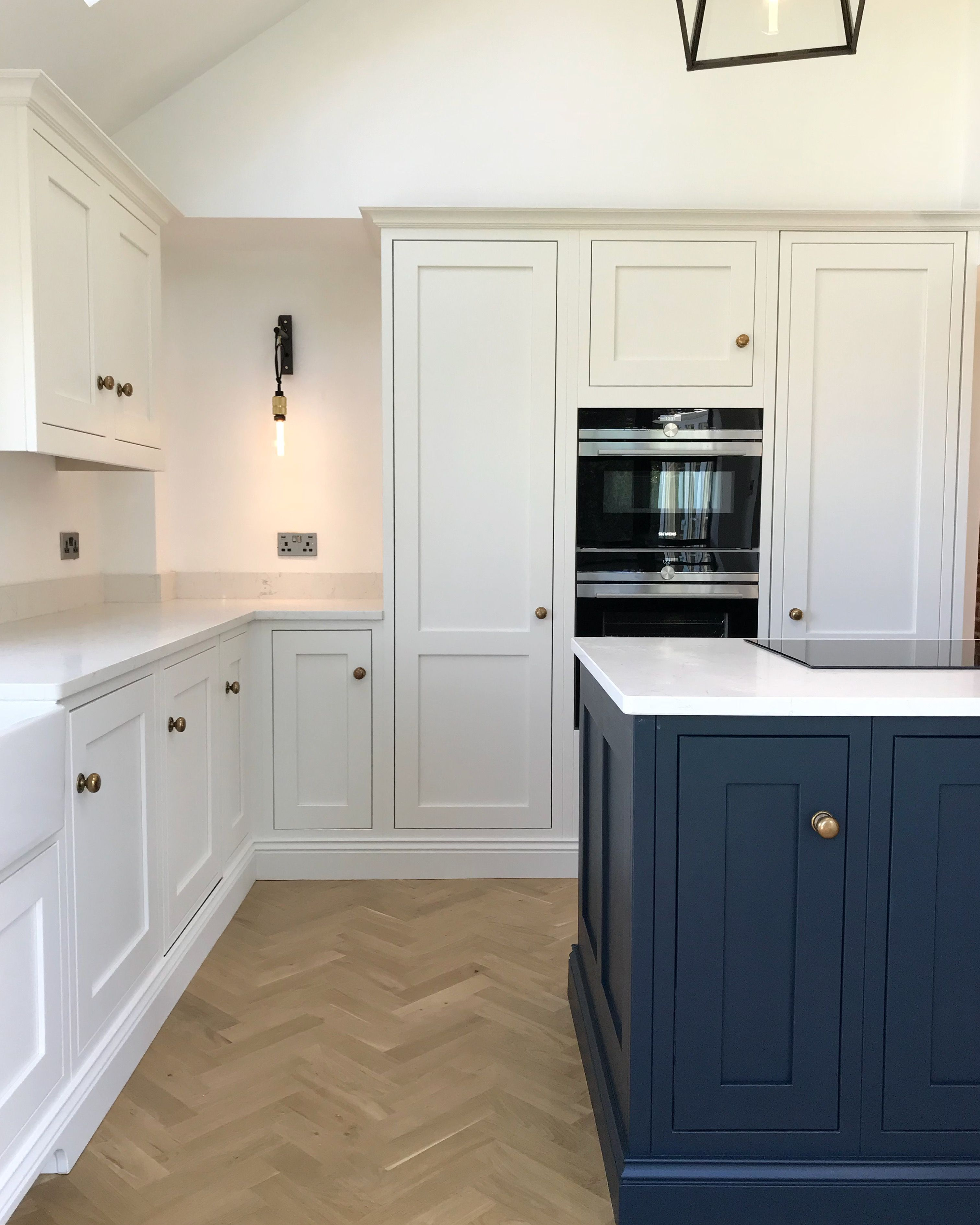 English Handmade Shaker Kitchen - Painted in Little Greene ...