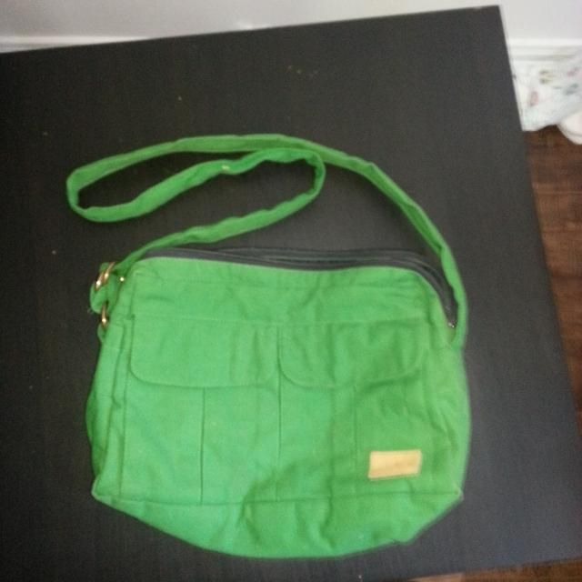 be3d68082 Vintage green canvas purse - Kettle Creek Canvas Co. - Port Stanley Ontario  Canada