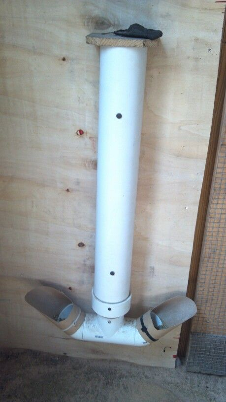 Homemade Chicken Feeder Made From Pvc Pipe From Lowes