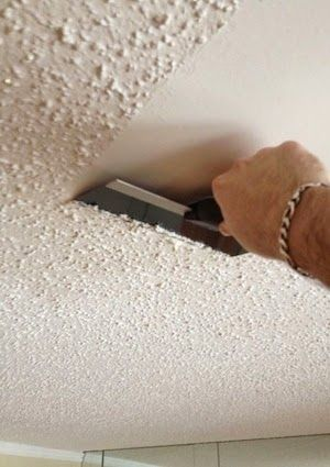 Marvelous Remove A Popcorn Ceiling I Love Smooth Plaster. For Many Years I Lived In A