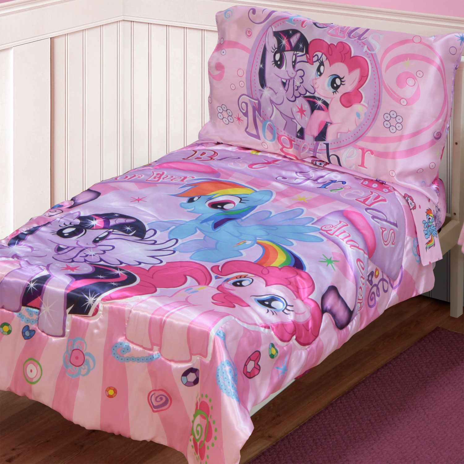 My Little Pony Bettwäsche My Little Pony Satin Best Friends 4 Piece Toddler Bedding Set