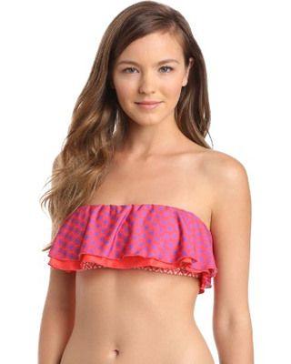 ad8b35448182e Hit the beach in this frilly and fun bandeau by Ella Moss. #divinecaroline # swimwear #bandeau #beach