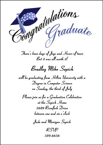 Most Creative Open House Graduation Party Invitation Wording Samples