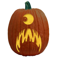 "One of 700+ FREE stencils for pumpkin carving and more! www.pumpkinlady.com ""Sad Mask"" #FreePumpkinCarvingPattern"
