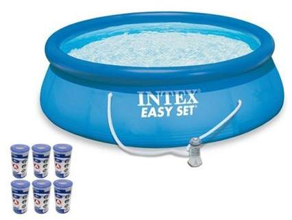 Intex 15 X 48 Easy Set Swimming Pool Kit W 1000 Gph Gfci Filter Pump 26167eh In 2019 Products Easy Set Pools Swimming Pool Kits Swimming Pools