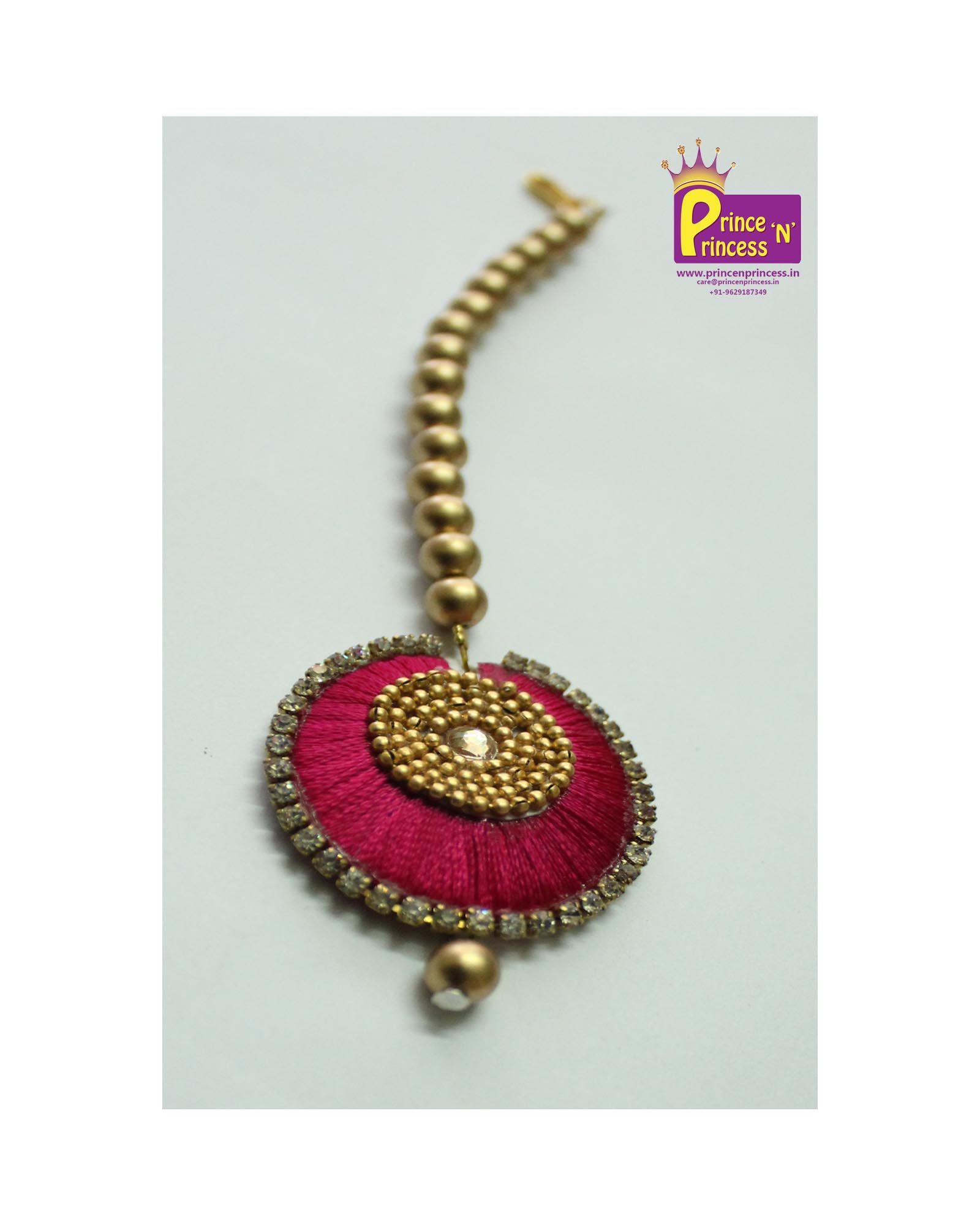 Buy Matching Kids Silk Thread Tikka For Your Grand Pattu Pavadai