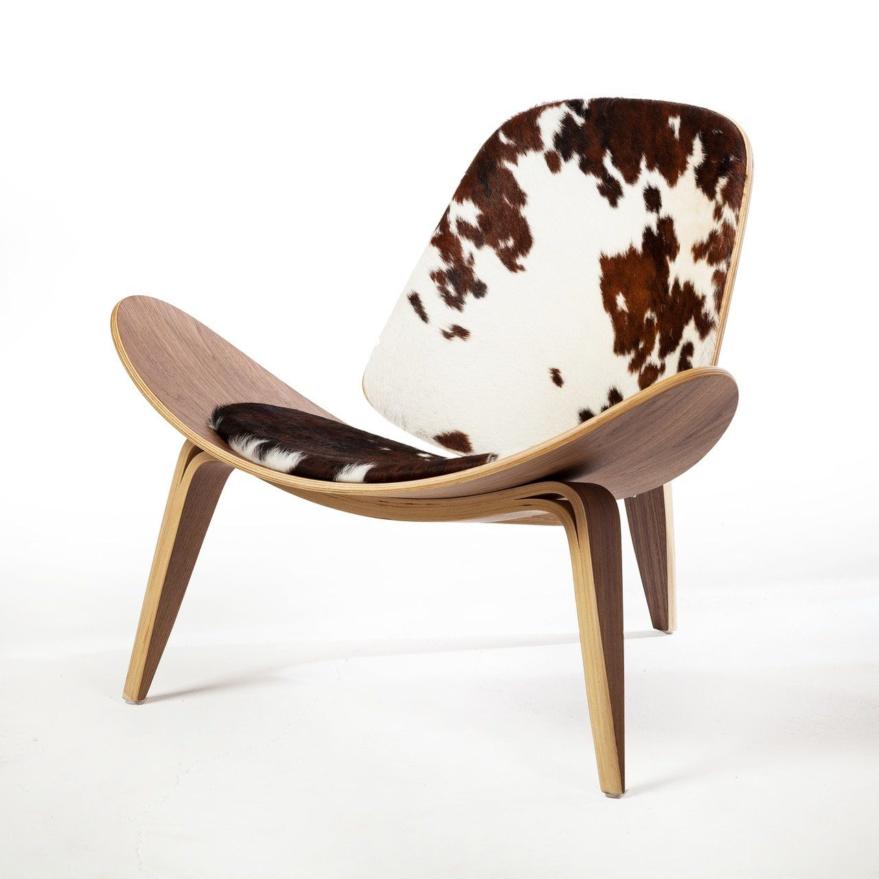 Design Tree Home Athena 07 Lounge Chair in Cow Hide