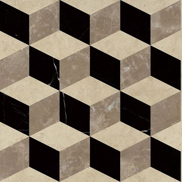 Japan 3d Square Diamond Marble Cube Tile For Bathroom Floor Design Galveston Half Bath
