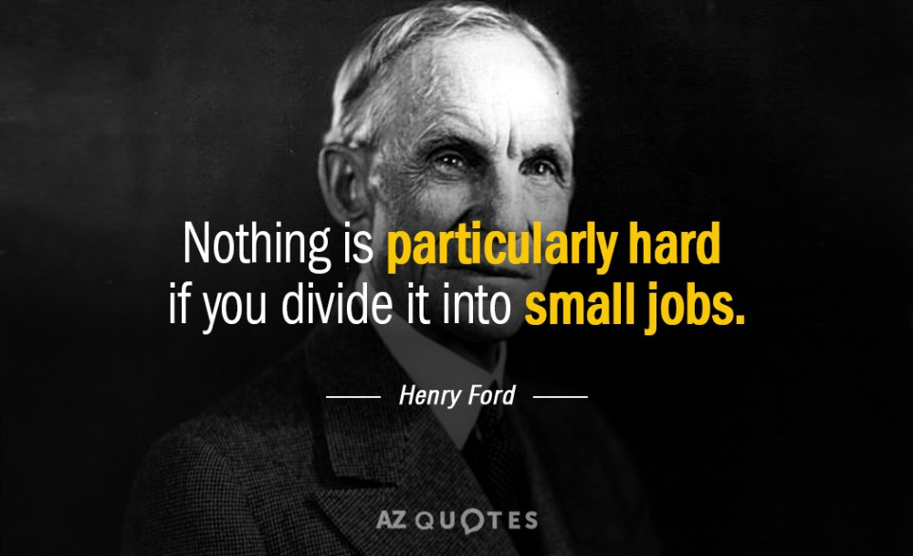 Henry Ford Quote Nothing Is Particularly Hard If You Divide It