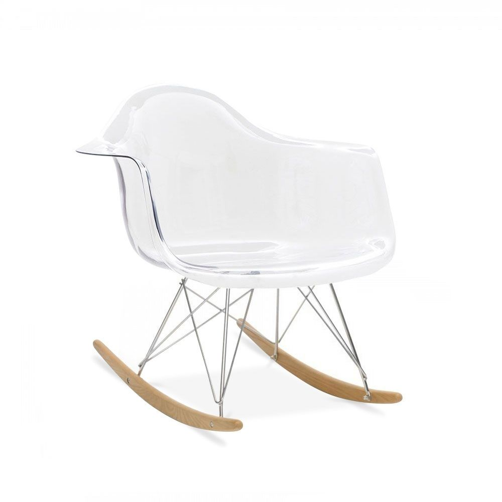 Mobilier Transparent Charles Eames Style Transparent Rar Rocker Chair Living Room 1