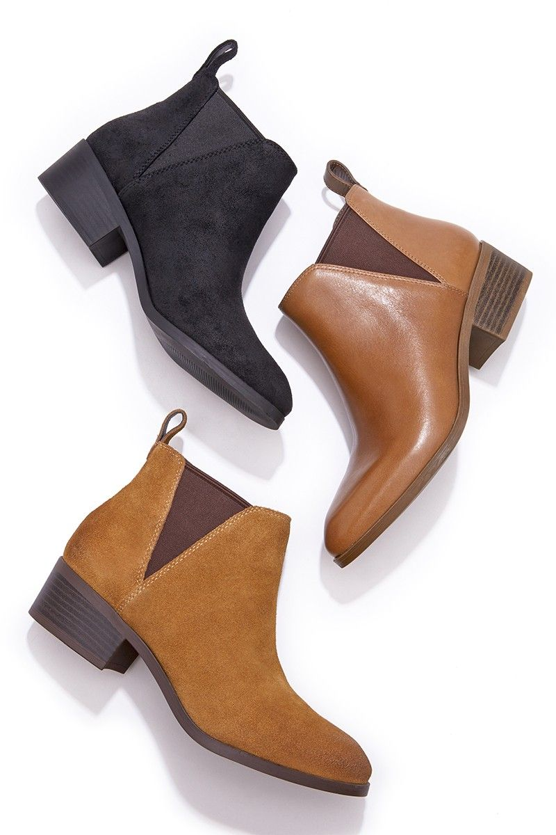Easy, everyday leather booties by Sole Society