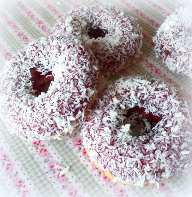 Coconut doughnuts (baked,not fried)