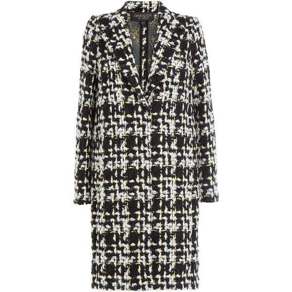 Giambattista Valli Bouclé Vrigin Wool Coat (27.171.310 IDR) ❤ liked on Polyvore featuring outerwear, coats, multicolor, woolen coat, slim coat, colorful coat, slim fit wool coat and wool coat