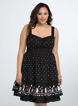Plus Size Disney Queen of Hearts Swing Dress, QUEEN OF ...