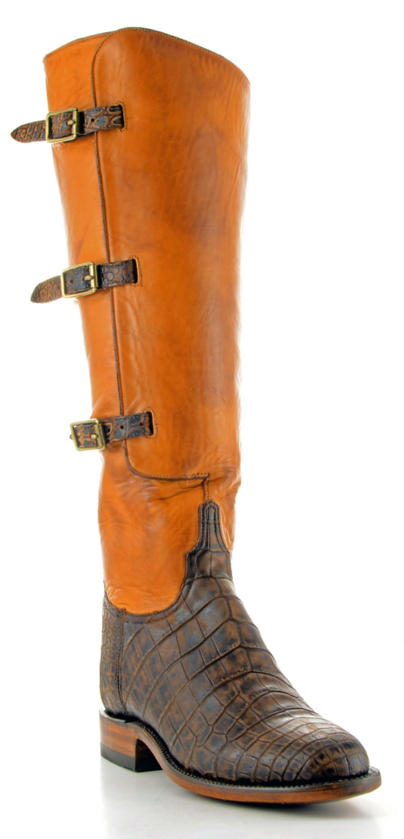 1533ddd8e Womens Lucchese Classics Croc Belly Boots Safari  Gb9890