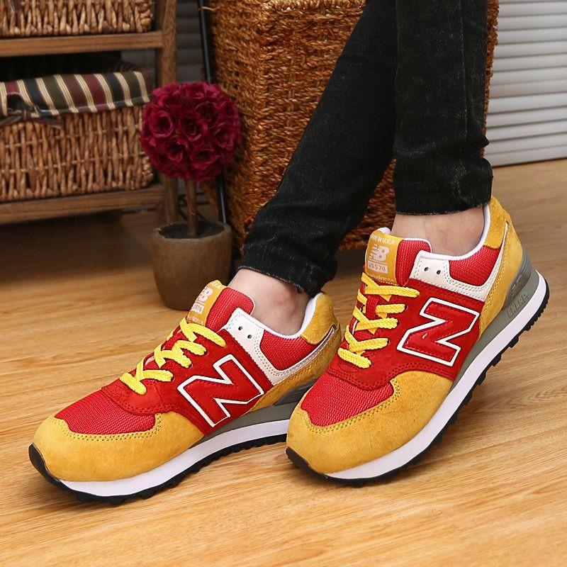 Beautiful New Balance US574 China Red Yellow Unisex