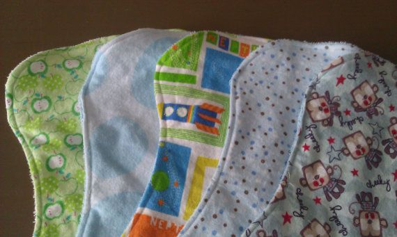 Flannel & Terry Cloth Burp Cloths by SplendourDesigns27 on Etsy, $1.50