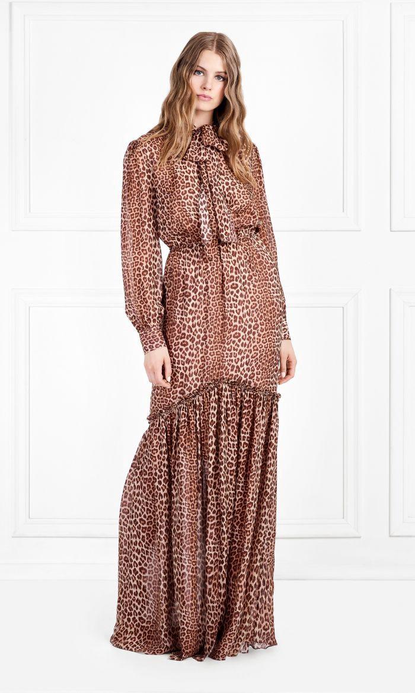 Rachel Zoe Verushka Leopard Printed Silk Chiffon Maxi Dress 12 Maxi Dress Chiffon Fashion Chiffon Maxi Dress [ 1170 x 700 Pixel ]