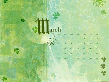 Shamrock March Calendar