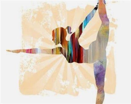 """yoga """"warrior pose ii""""  colores de luna pequeÑo yoga"""