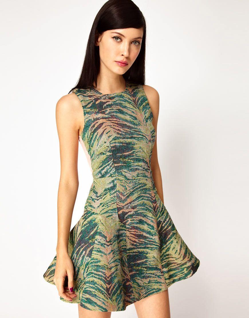 Antipodium pixel dress in tiger tapestry fashion pinterest
