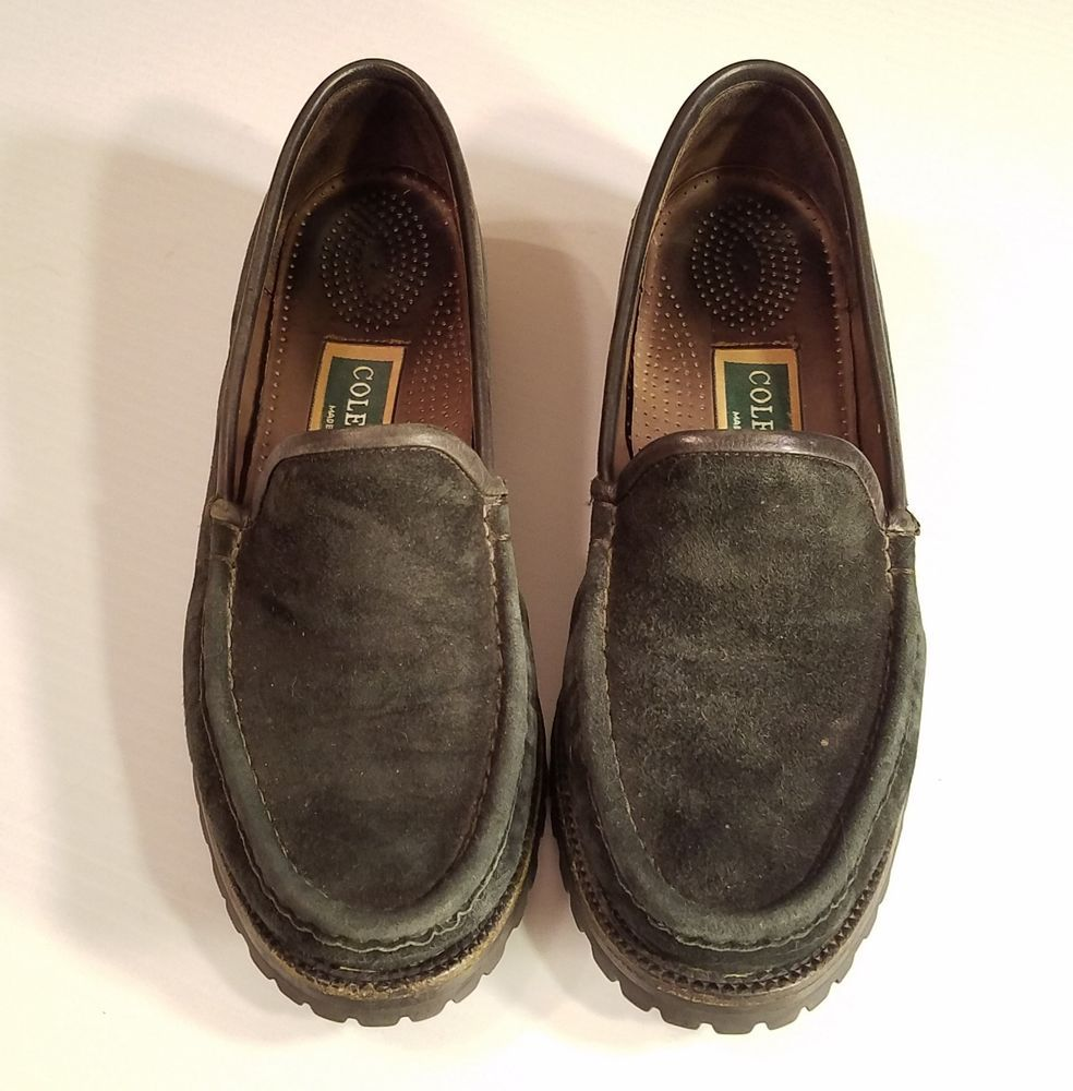 84ef6aea37a Cole Haan Women s Black Leather Slip On Loafer Lug Sole Size 7.5 AA Vibram  USA  ColeHaan  LoafersMoccasins  WeartoWork