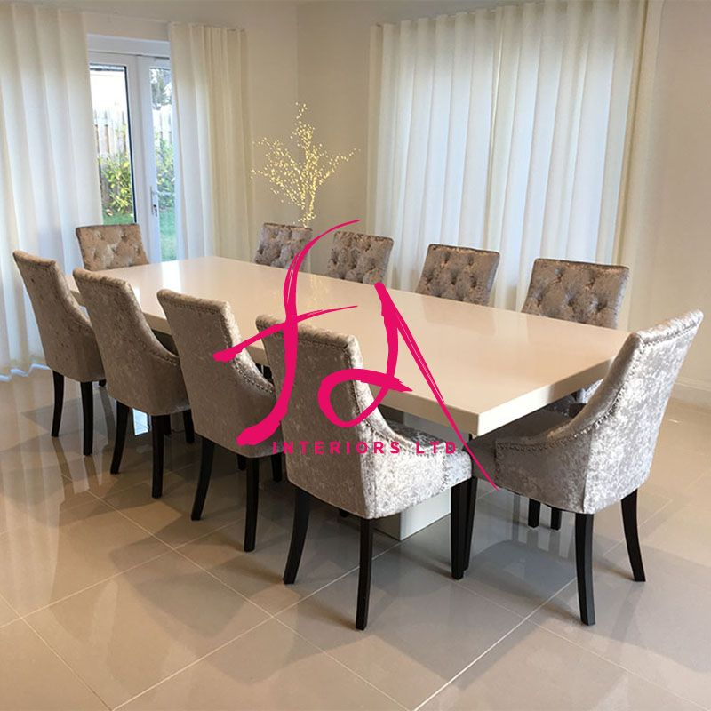 This Opulent Quartz Bespoke Extra Large 3m Dining Table Is A Stunning Addition To Our Quartz Furniture Range And Is Dining Room Design Dining Table Home Decor